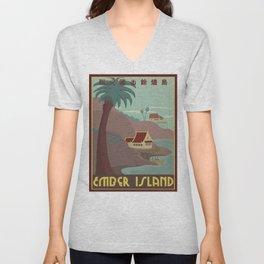 Ember Island Travel Poster Unisex V-Neck