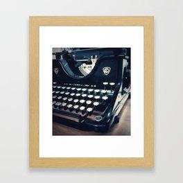 Ye Olde Italian Typewriter. Framed Art Print