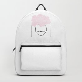 shopping bag with pink flowers Backpack