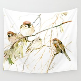 Sparrow wall tapestries society6 sparrows on tree wall tapestry thecheapjerseys Gallery