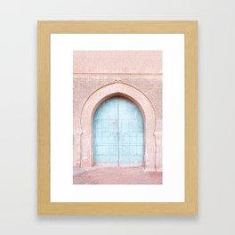 Turquoise door Framed Art Print