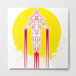 Iron man - Tony Stark Hobbie Metal Print