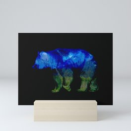 Grizzly in the Shadows Mini Art Print