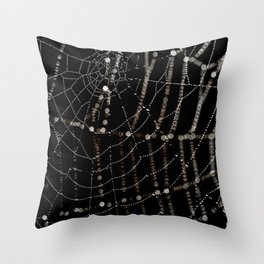 Spiders web and spiders web. Throw Pillow