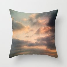 Dreamy Clouds Throw Pillow