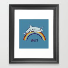 What? Framed Art Print