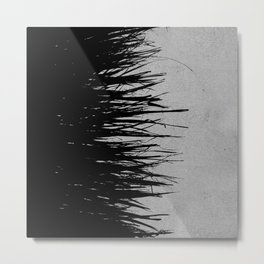 Concrete Fringe Black on Side Metal Print