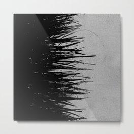 Concrete Fringe Black on Side Metal Print