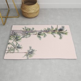 Palm Trees in La La Land - California Photography Rug