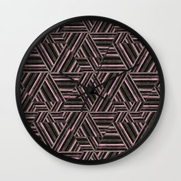 Abstract striped pattern. 2 Wall Clock