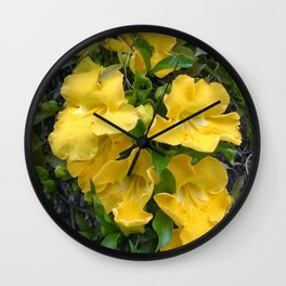 Cat's Claw Vines Wall Clock