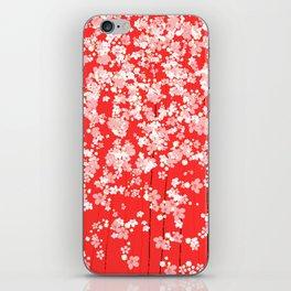 Red Shidare Sakura iPhone Skin