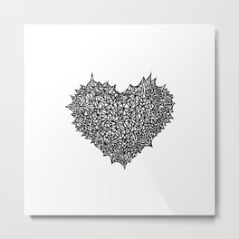 The Heart of Thorns Metal Print