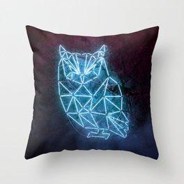 Fluorescent Owl Throw Pillow