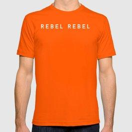 REBEL REBEL. (white) T-shirt