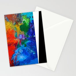 Orchestra, colorful organic abstract, NYC artist Stationery Cards