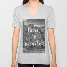 Born To Wander Unisex V-Neck