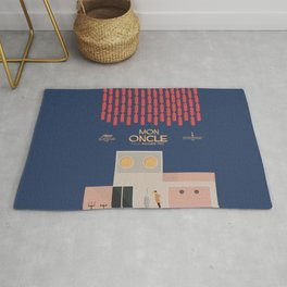 Mon Oncle - Jacques Tati Movie Poster, classic French movie, old film, Cinéma français, fun, humor Rug