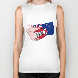 Rugby Ball New Zealand Biker Tank