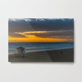 Windswept Sunset Metal Print