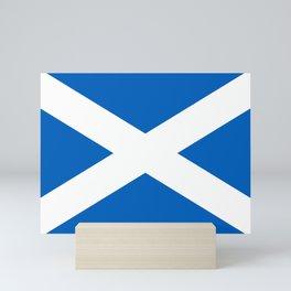 Flag of Scotland - Scottish flag Mini Art Print