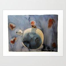 On the moon Art Print
