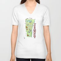 vermont V-neck T-shirts featuring VERMONT by Christiane Engel