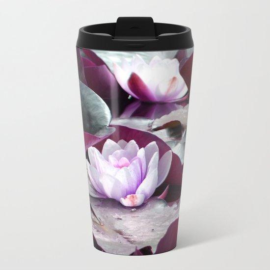 Waterlily Escape Metal Travel Mug