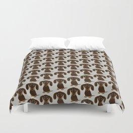 Chocolate Dachshund Duvet Cover