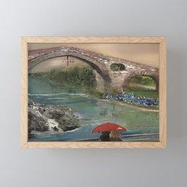 The Roman Bridge, Asturias  Framed Mini Art Print