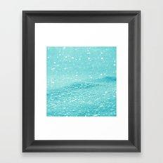 Glitter Turquoise Framed Art Print
