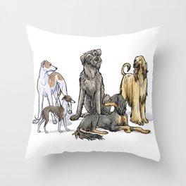 Graceful Sighthounds Throw Pillow