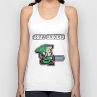 gaming Tank Tops featuring JUST GAMING by Edgar