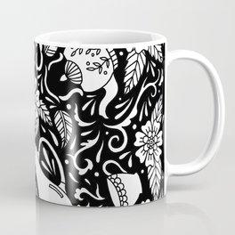 Tea Time Black and White Coffee Mug