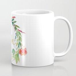 Bride Gold Typography Flowers Wreath Coffee Mug