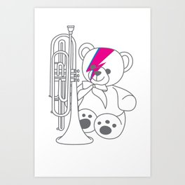 Bix Bowie Art Print