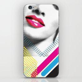 Pop Art Girl iPhone Skin