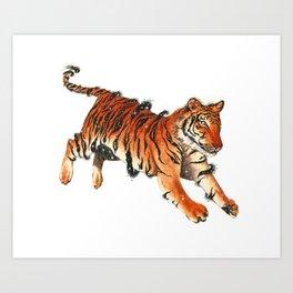 Cosmic Tiger Art Print