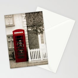Red Telephone Booth Sepia Spot Color Photography Stationery Cards