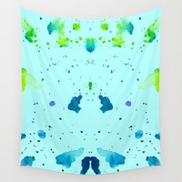 watercolour Wall Tapestries featuring Watercolour by Amarinda