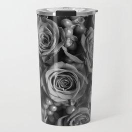 Roses (black and white) Travel Mug