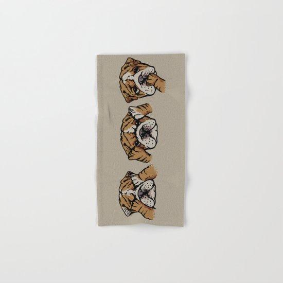 Noevil English Bulldog Hand & Bath Towel