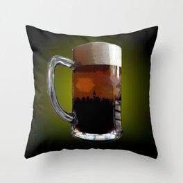 Big Beer Throw Pillow