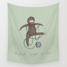 Bigfoot Caught on Film Wall Tapestry