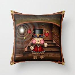 Steam Punkie Throw Pillow