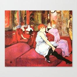 """Henri de Toulouse-Lautrec """"Au Salon de la rue des Moulins"""" Canvas Print"""