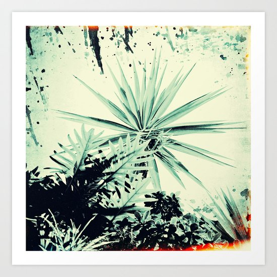 Abstract Urban Garden Art Print