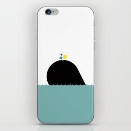 CMYK Whale iPhone Skin