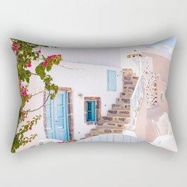 Santorini Greece Aesthetic Photography, Santorini Blue Benjamin Moore Rectangular Pillow
