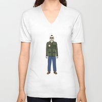 taxi driver V-neck T-shirts featuring Taxi Driver - Travis Bickle  by V.L4B
